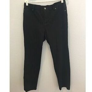 womens black CHICOS pants stretch waist ~